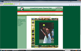 Limpsfield Tennis Club website design