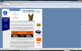 Transpet Pet Transporter website maintenance